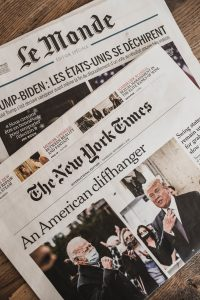 """Newspaper """"An American Cliffhanger"""""""